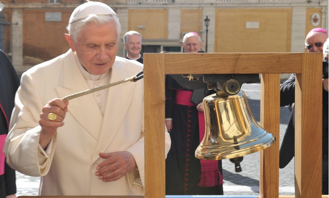 Pope ringing bell