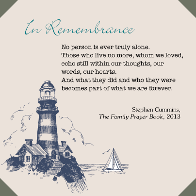 In remembrance Prayer Family Prayer Book