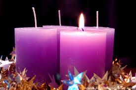 advent purple candles