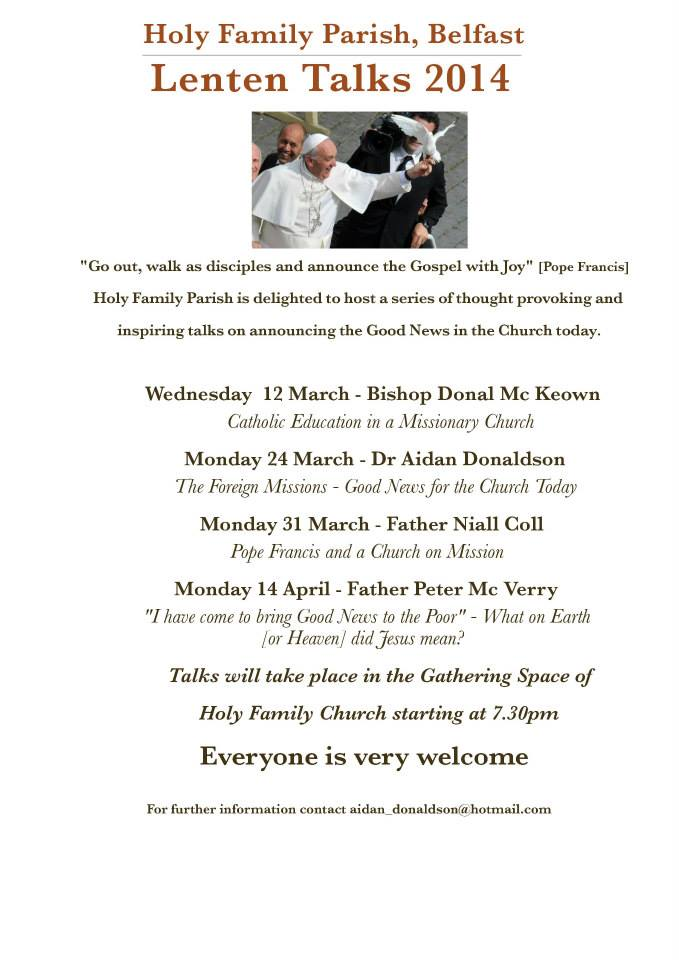 Belfast Lenten Talks 2014