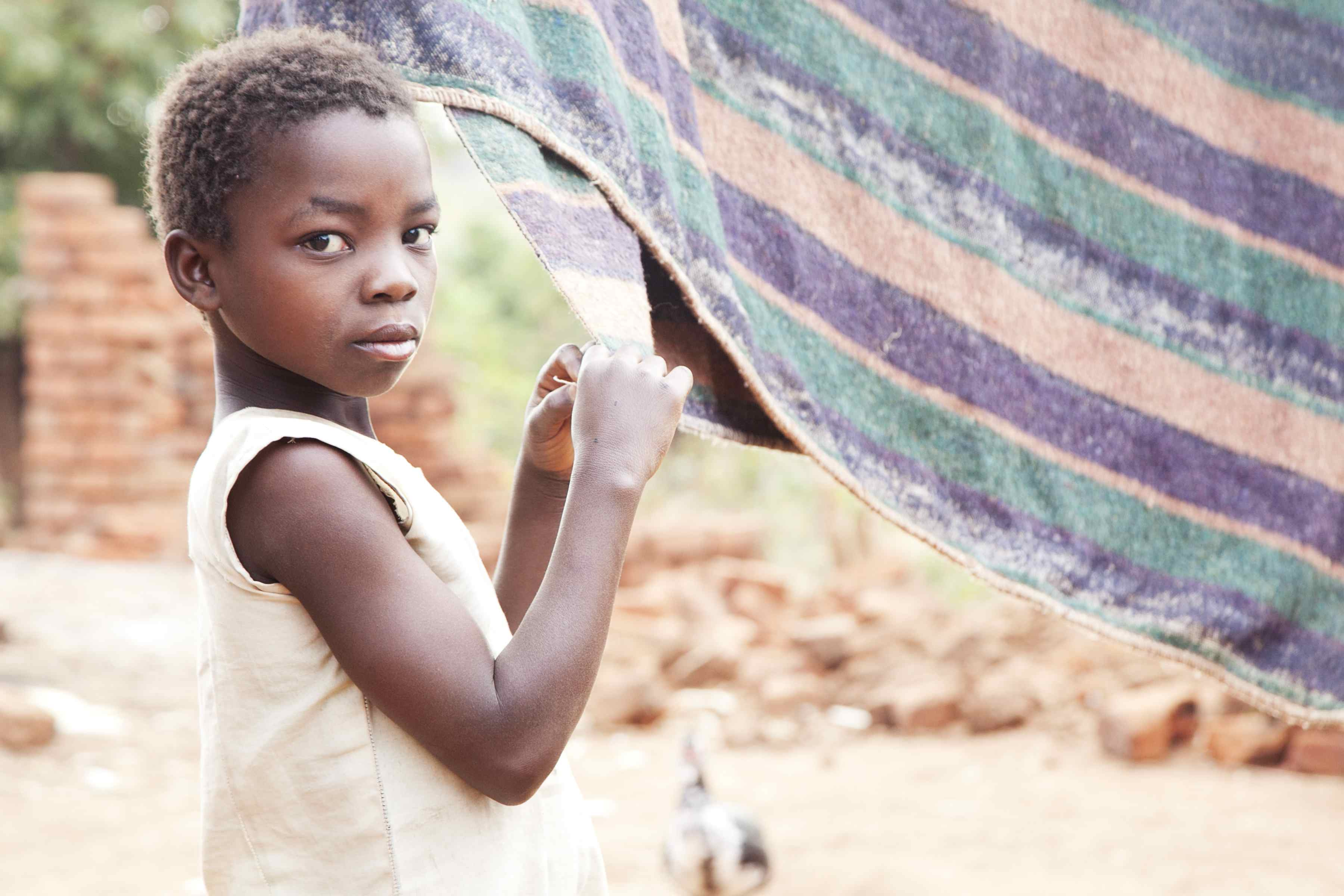 Enestina Muyeye (9) from Malawi who features on the Trocaire Lenten box