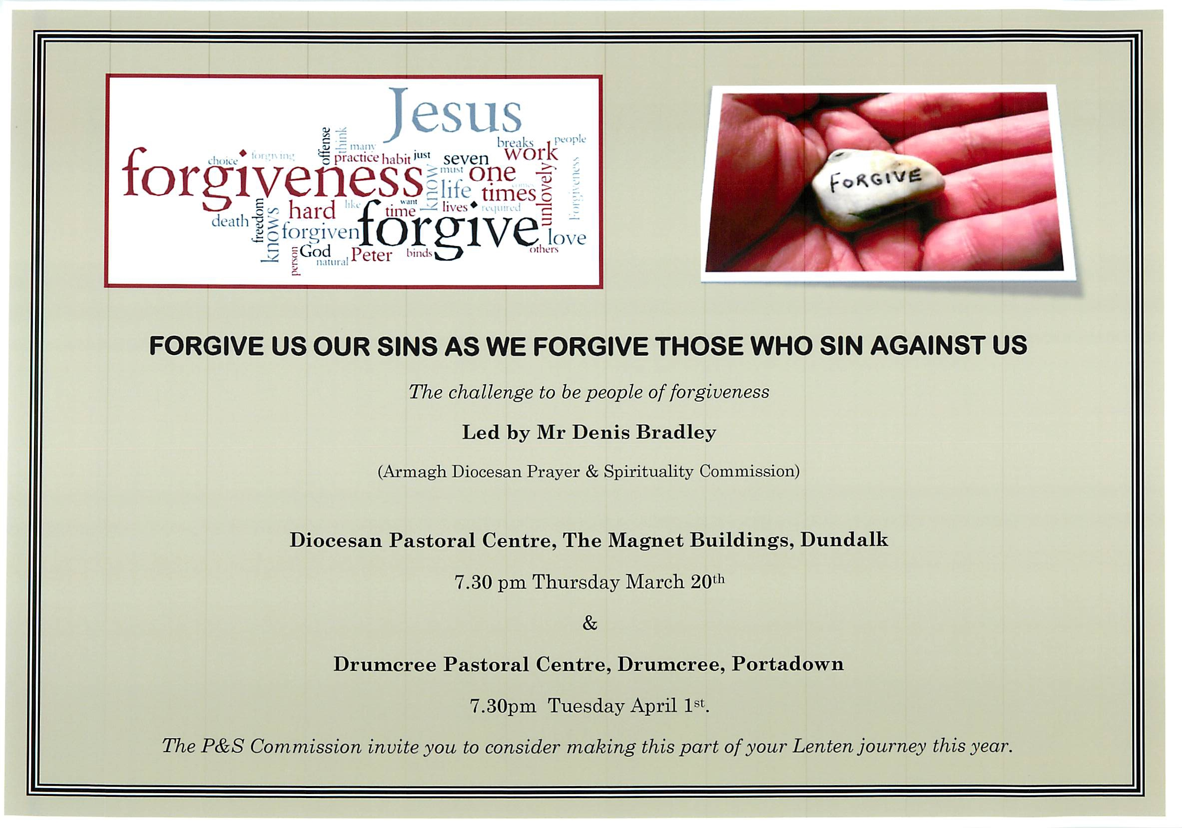 Forgiveness event Armagh image