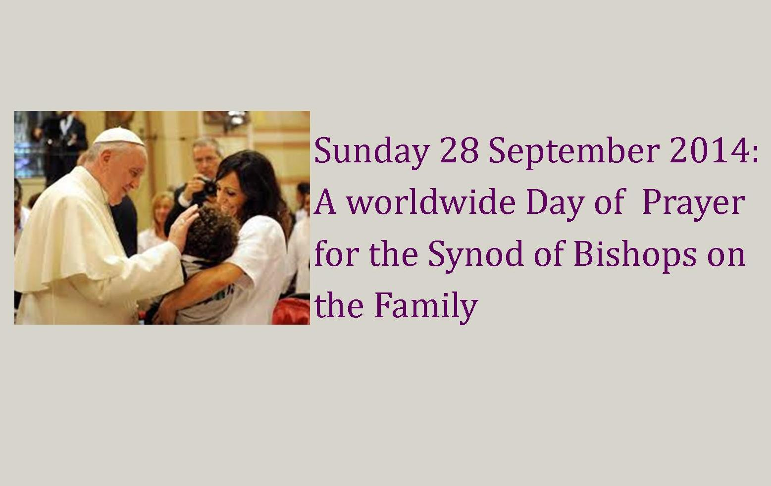 Worldwide Day of Prayer for the Synod of Bishops