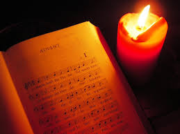 advent music with candle