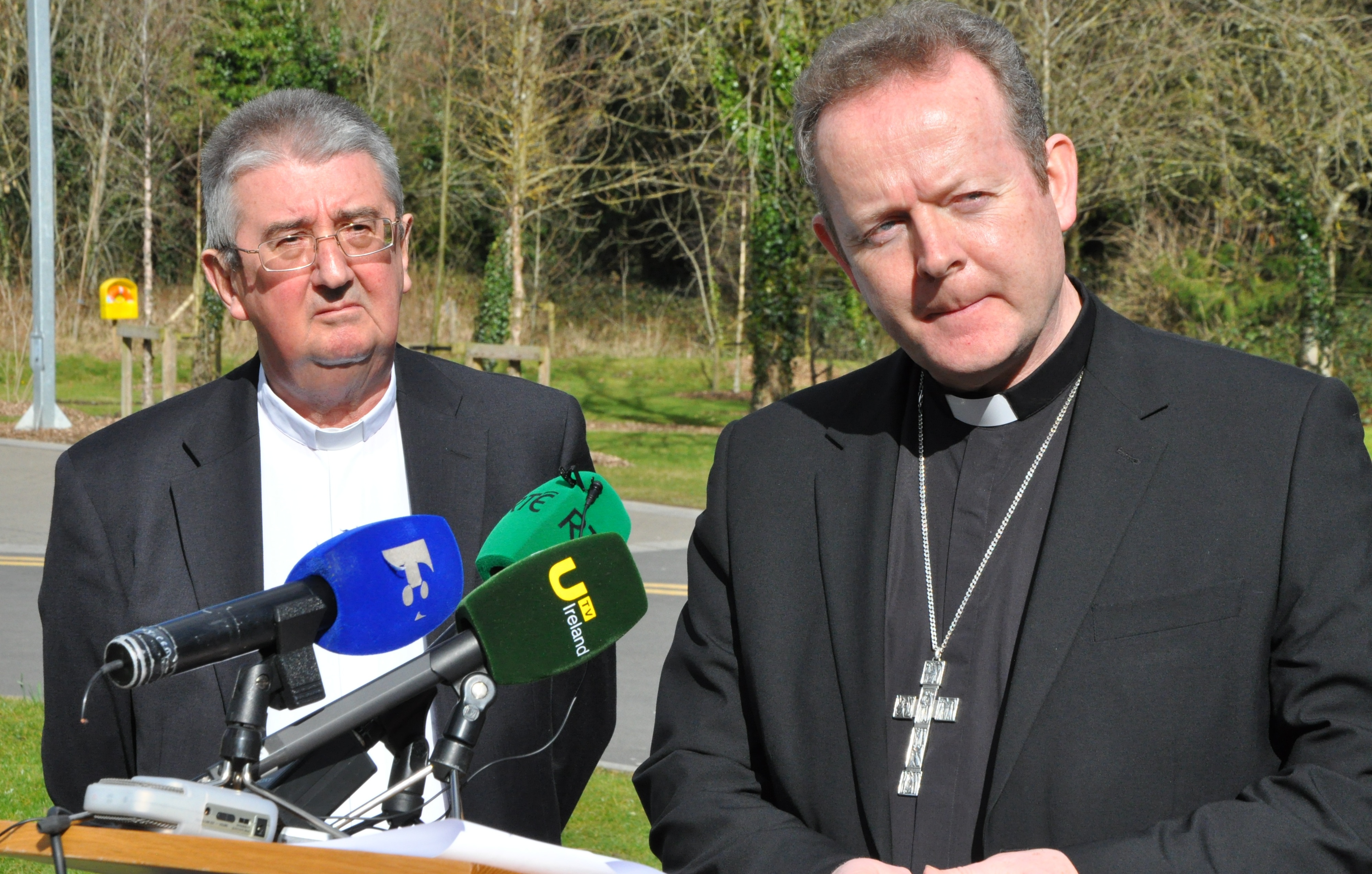 Archbishop Diarmuid Martin and Archbishop Eamon Martin MAYNOOTH 10 March 2015 Launch of Marriage is Important PIC BRENDA DRUMM