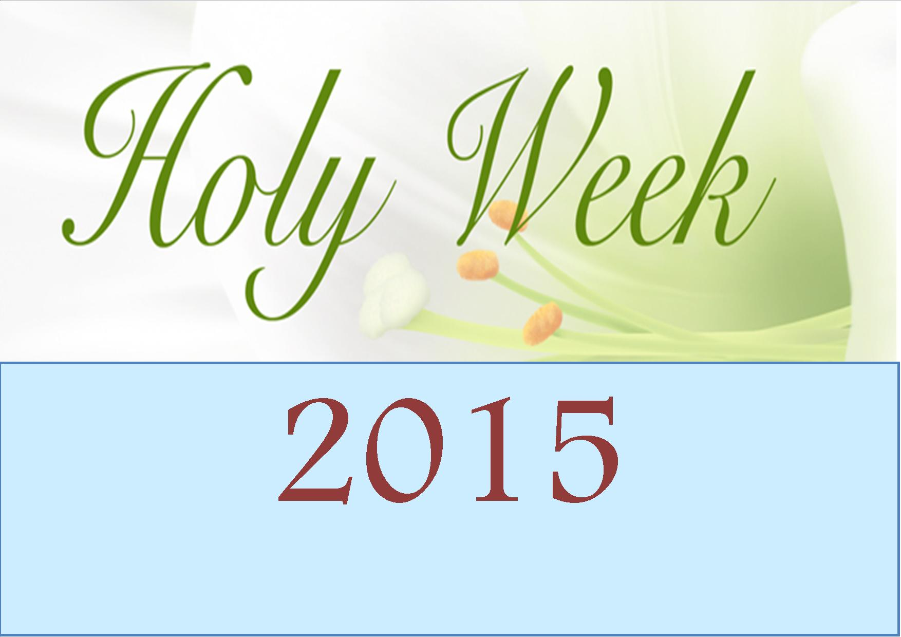 Holy Week 2012: Fasting - how to eat