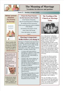 Meaning of Marriage Newsletter Issue 5 19 April 2015