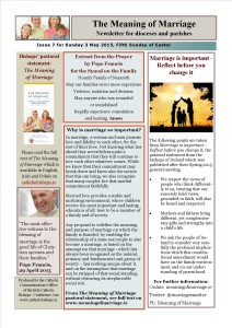 Meaning of Marriage Newsletter Issue 7 3 May 2015