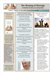 The Meaning of Marriage Newsletter Issue 4 Sunday 12 April 2015