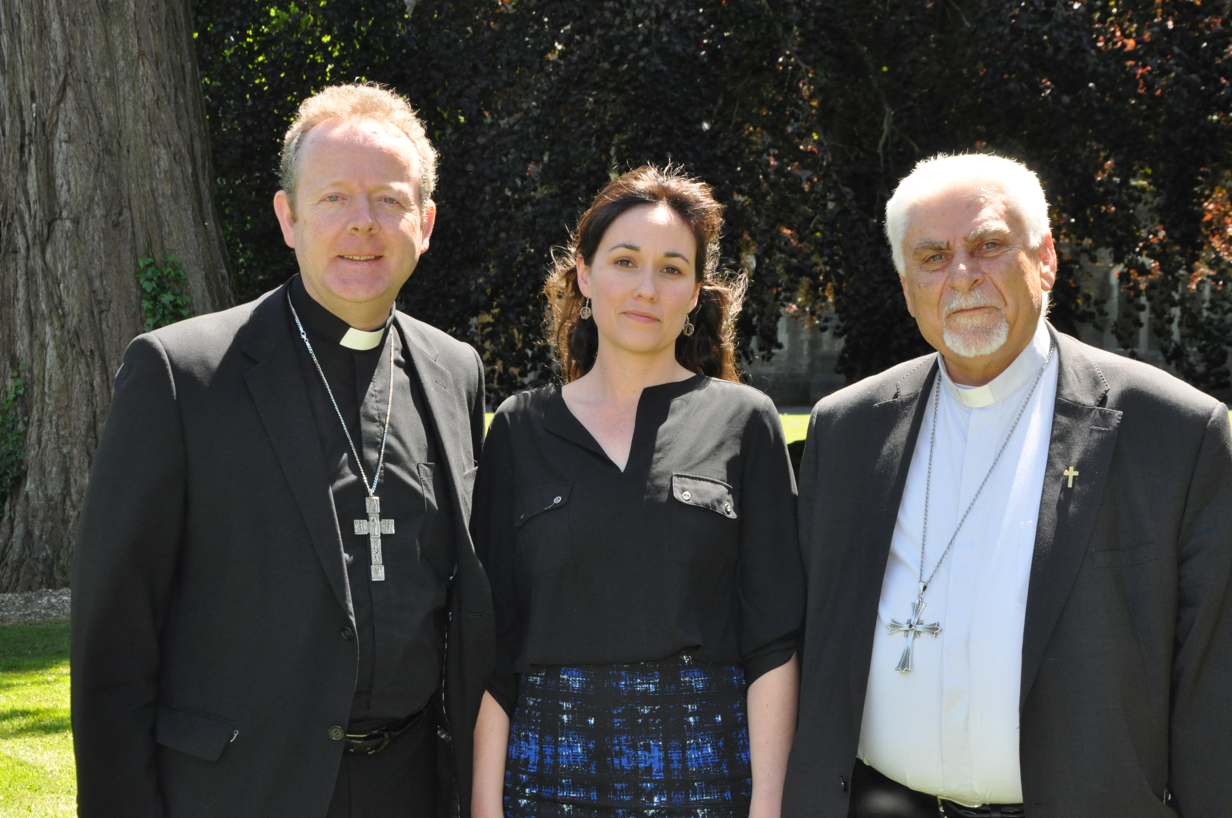 PIC 3 IBC June 2015 General Meeting - Archbishop Eamon Martin, Dr Nicola Brady, Council for Justice and Peace and the Syrian-Catholic Archbishop of Mosul Yohanna Petros Mouche