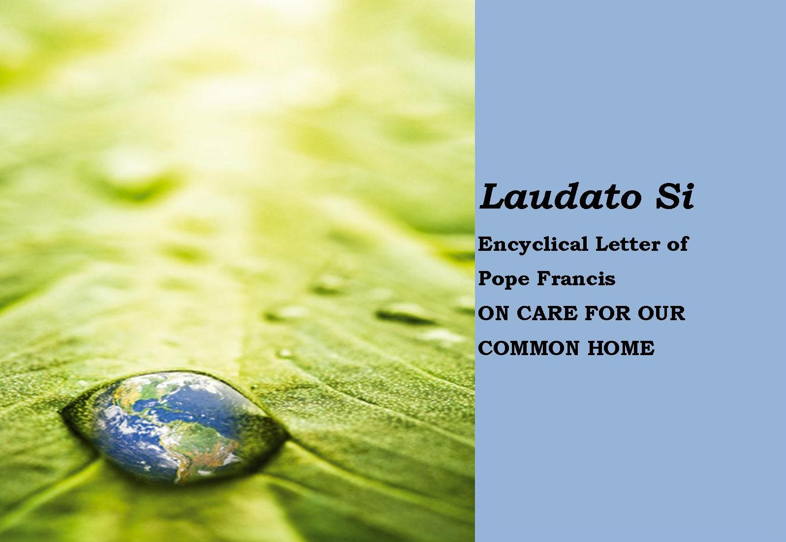 laudato si encyclical letter of pope francis on care for. Black Bedroom Furniture Sets. Home Design Ideas