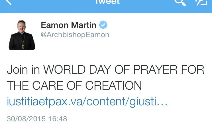 Archbishop Eamon MAartin tweet