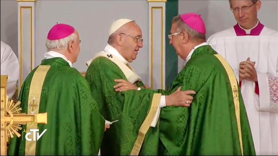 Pope Francis and Archbishop Diarmuid Martin