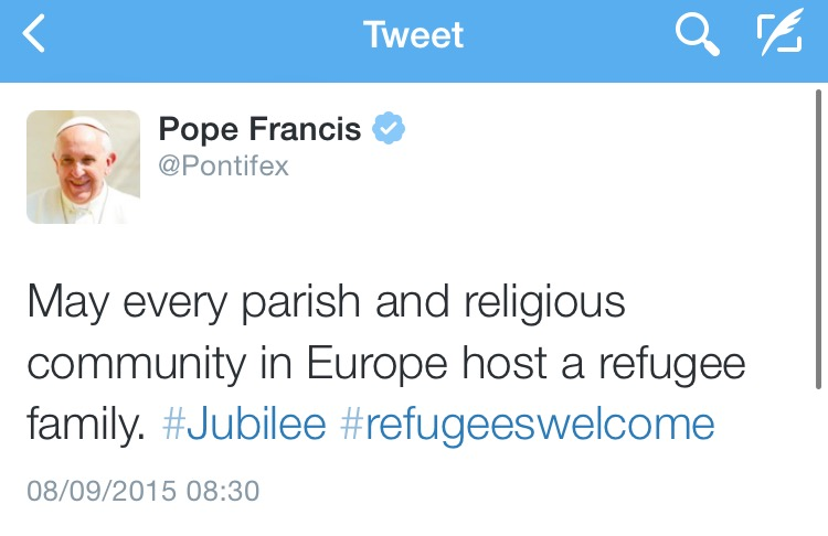 Pope francis on parishes