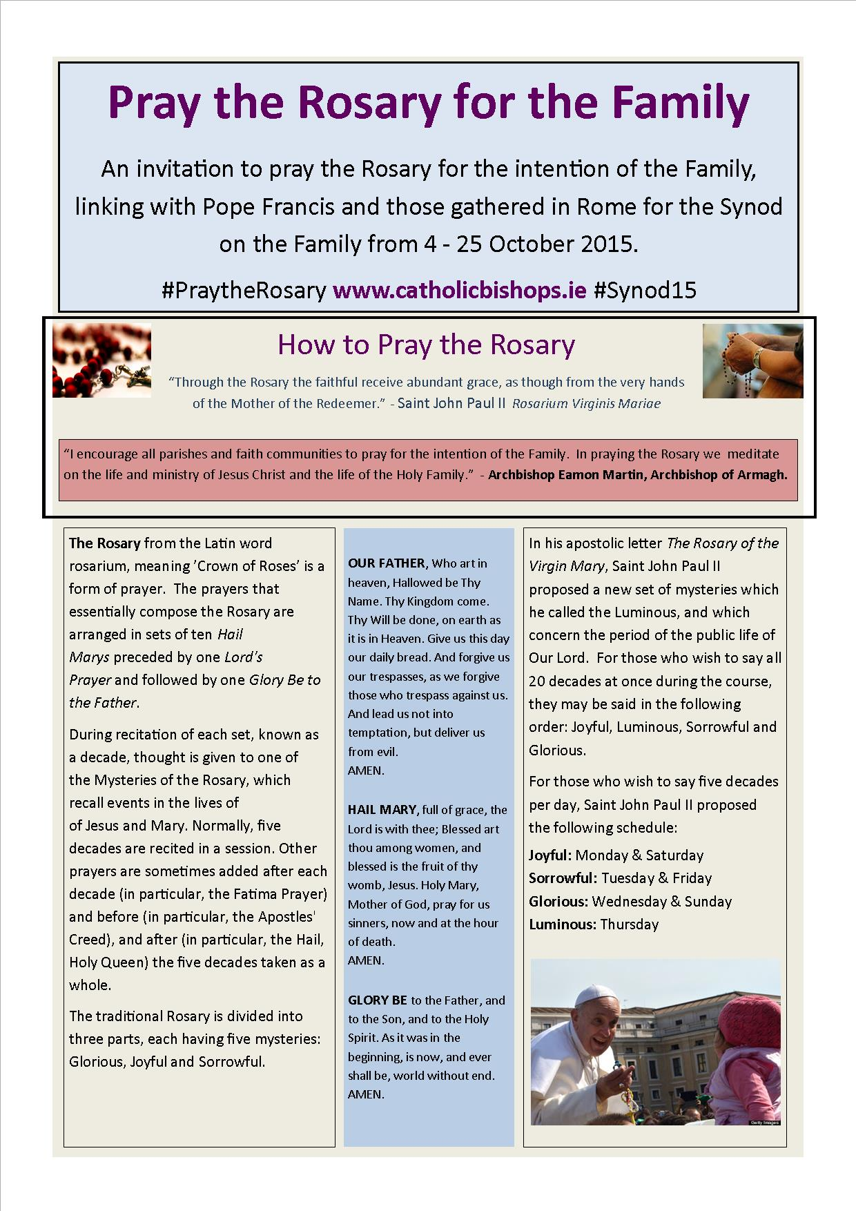 family praying the rosary - HD1240×1754