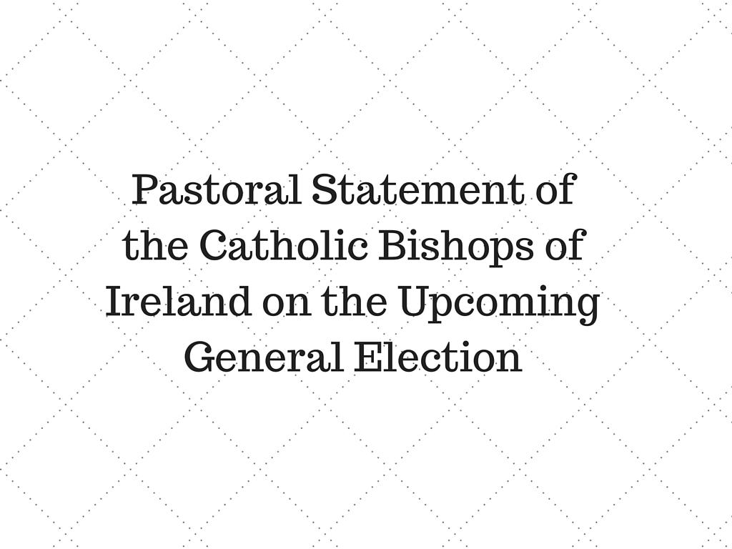 Bishops pastoral statement