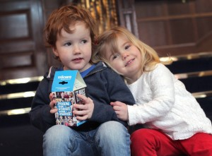 NO REPRO FEE 9/2/2016 Pictured launching the 2016 Trocaire Lenten Campaign are two and half-year-old Jessie Rogers from Celbridge, Co. Kildare and three-year-old Luka Farrell from Longwood, Co. Meath. For the first time the Trocaire box features Trocaire supporters from across Ireland who are fighting for justice for the world's poor by fundraising, campaigning and volunteering. The Trocaire Box is covered with pictures of families, teachers, school children, volunteers and campaigners who support the organisation's work. The Trocaire Lenten Campaign runs from Ash Wednesday 10th February to Easter Sunday, 27th March 2016 and is Ireland's largest fundraising campaign. For more information please visit www.trocaire.org. Trocaire boxes are available from parishes, through trocaire.org or by phoning 1850 408 408. As well as donating through the Trocaire box and trocaire.org, people can download a free Trocaire box app for their mobile phones or tablets. The app is available from the Apple App Store or Google Playstore. Photo: Mark Stedman/Photocall Ireland