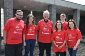 Bishop Donal McKeown with Derry WYD pilgrims PIC Brenda Drumm