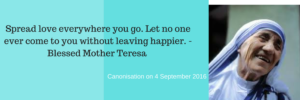 Mother Teresa Canonisation 4 September 2016