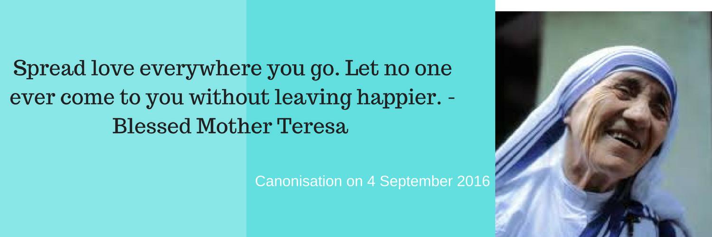 Mother Teresa Canonisation 4 September 2016