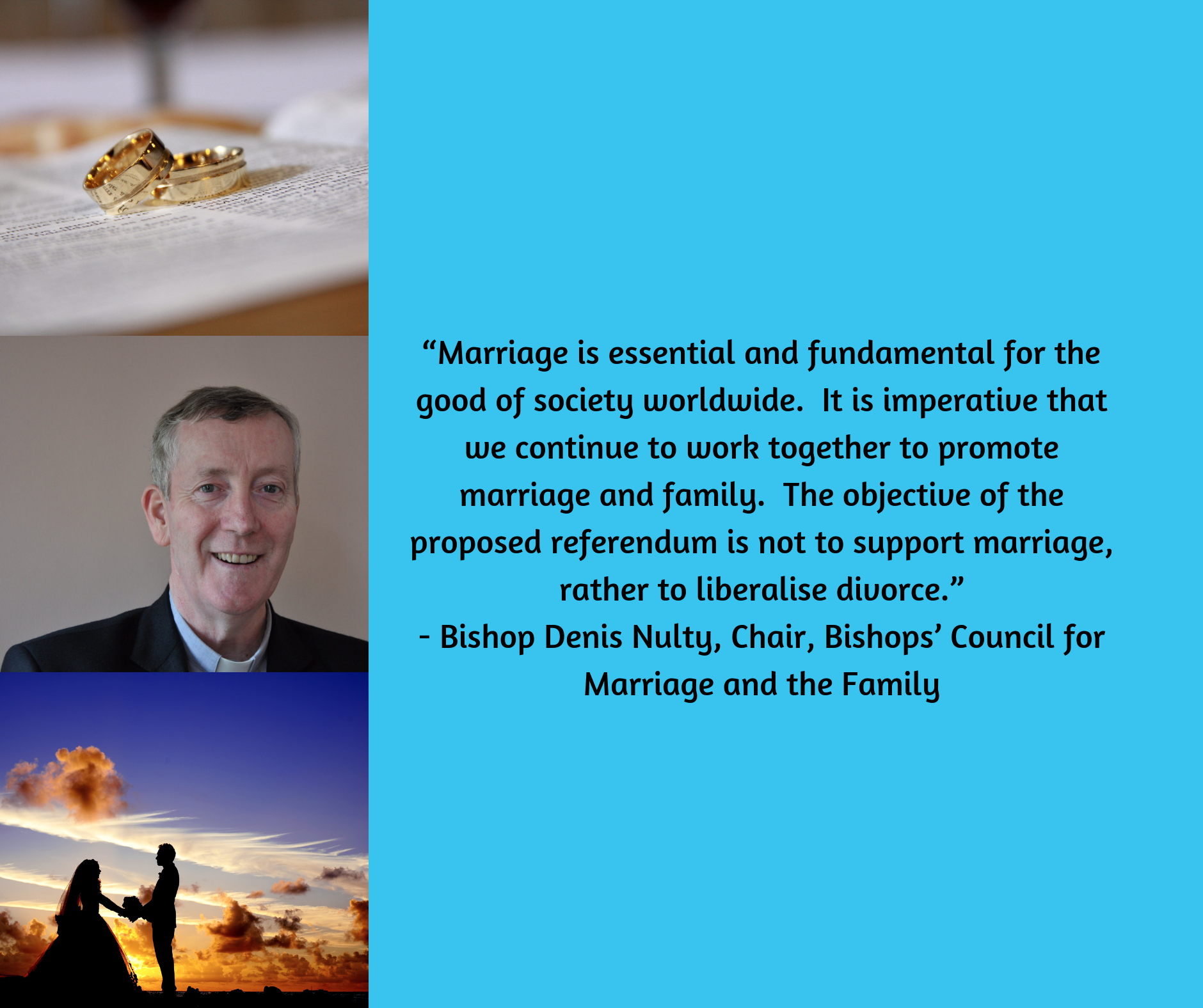Statement by Bishop Denis Nulty, chair of the Council for